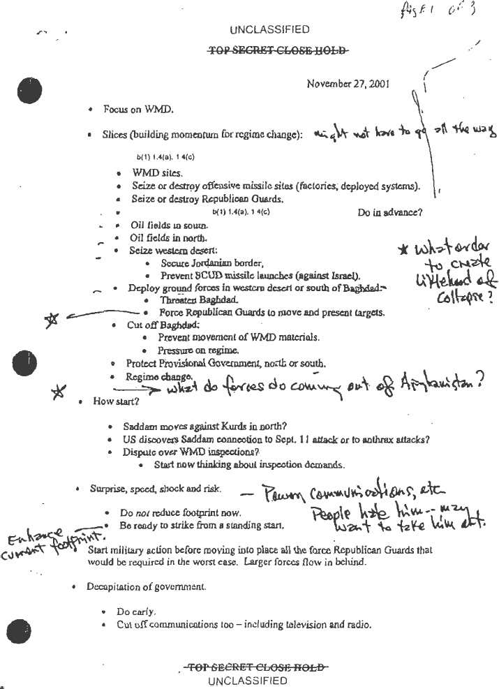 Newly Released Memo by Donald Rumsfeld Proves Iraq War Started On False Pretenses 1 74bfa9d607